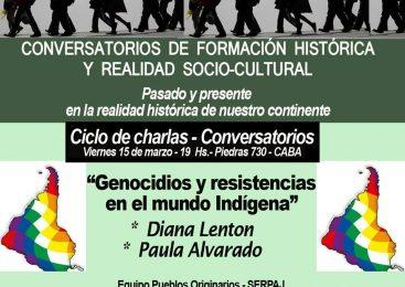 Charla sobre genocidio y resistencias en el mundo indígena