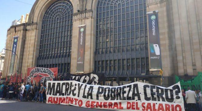 Jornada nacional contra el hambre: acampe en las puertas de hipermercados