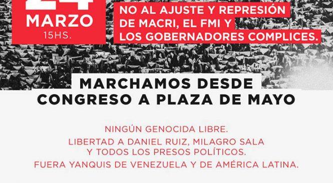 El Encuentro Memoria Verdad y Justicia convoca a marchar el 24 de marzo
