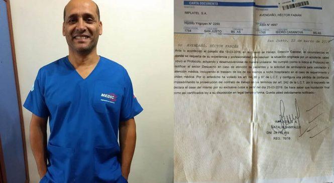 Despiden a enfermero de Trenes Argentinos por intentar salvar una vida