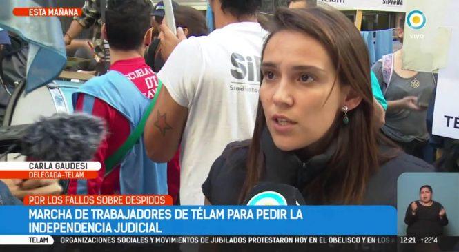 Agencia Télam: Para los trabajadores, Justicia