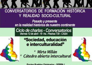 """Charla de formación: """"Sociedad, educación e interculturalidad"""""""