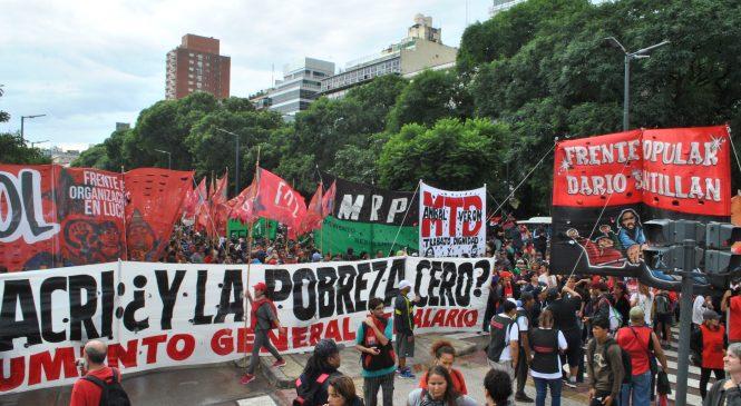 Jornada de marchas contra el hambre y la destrucción macrista del trabajo