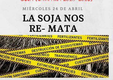 Escrache al remate del primer lote de soja en la Bolsa de Comercio de Rosario