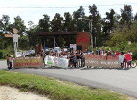 Crece la protesta en Dique Luján y La Ñata en defensa de los humedales
