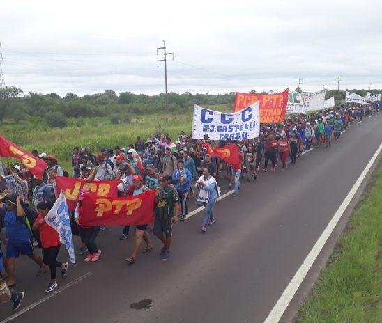 Indígenas y campesinos reclamaron en rutas chaqueñas