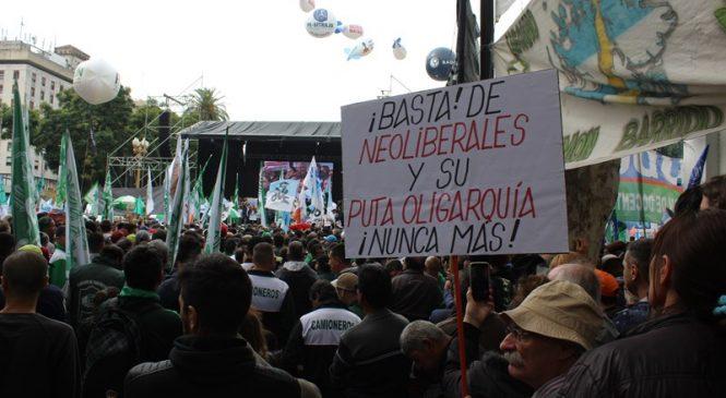 30A: Paro y movilización en Buenos Aires