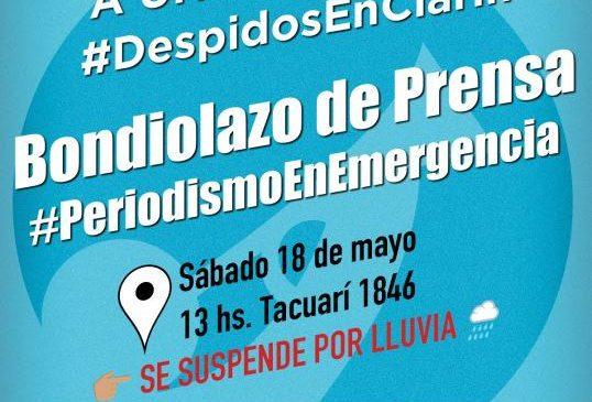 Bondiolazo a un mes de los despidos en Clarín