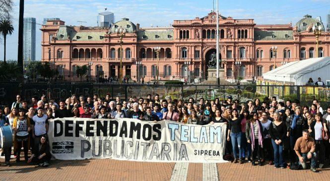 Amenaza de despidos en Télam: se inicia un acampe frente a la Justicia del Trabajo