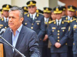 Mendoza: Alfredo Cornejo reivindica y reafirma su política represiva