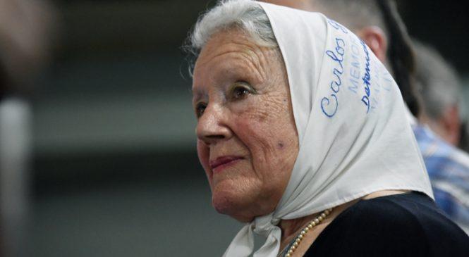 """Norita Cortiñas como broche de oro: """"siempre hay que salir a la calle"""""""