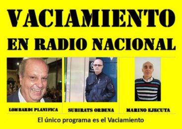 Radio Nacional: el único programa es el vaciamiento
