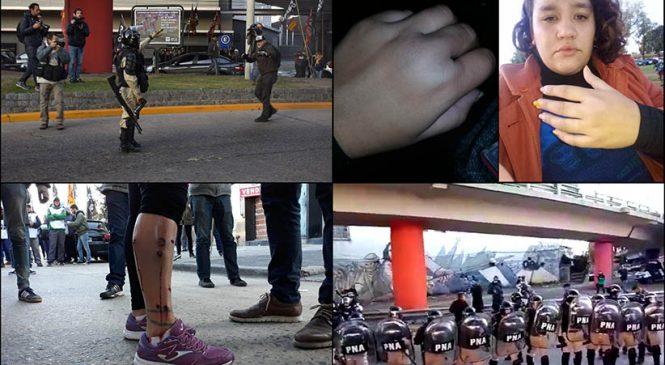 Paro General: represión policial y tensión en varios cortes por la mañana