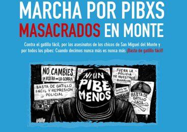Marcha en apoyo a familiares de niños asesinados en San Miguel del Monte