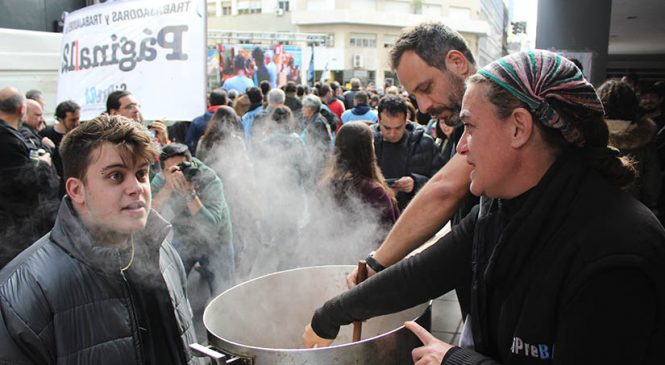 Periodismo en Emergencia: Jornada de lucha del SiPreBA para denunciar la crisis en el sector