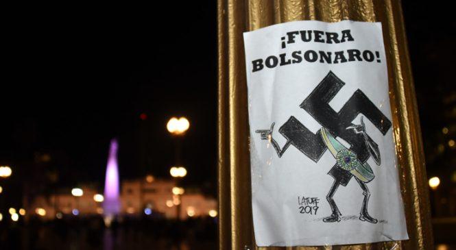 Contra la visita de Bolsonaro