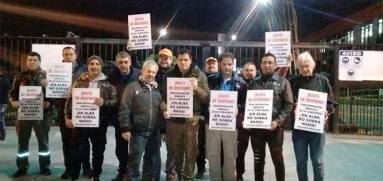 Acampe contra los despidos en ALBA