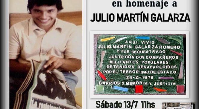 Barrios x Memoria y Justicia en homenaje a Julio Martín Galarza