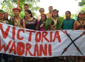 Waoranis celebran fallo que evitará extraer petróleo
