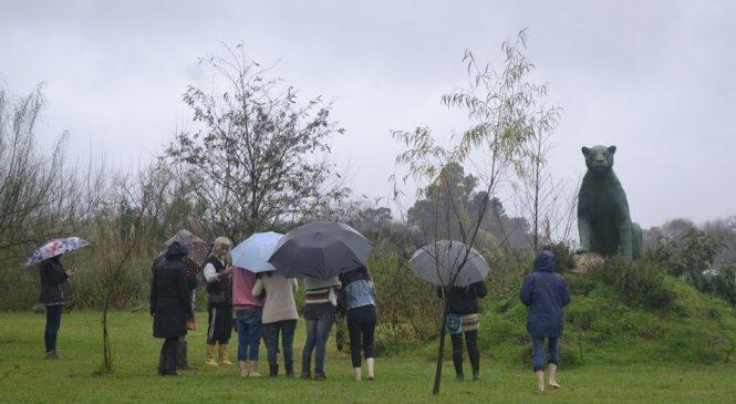 Punta Querandí: pese a las lluvias, hubo tareas y la visita de un seminario de psicología comunitaria