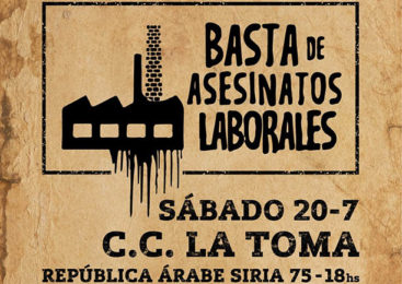 Lomas de Zamora: Festival del espacio Basta de Asesinatos Laborales
