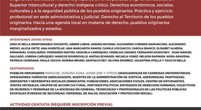"""Curso  """"Derecho Crítico, Pueblos Originarios y Estados"""""""