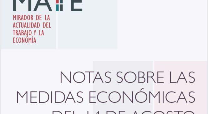 Sobre las medidas económicas del 14 de agosto