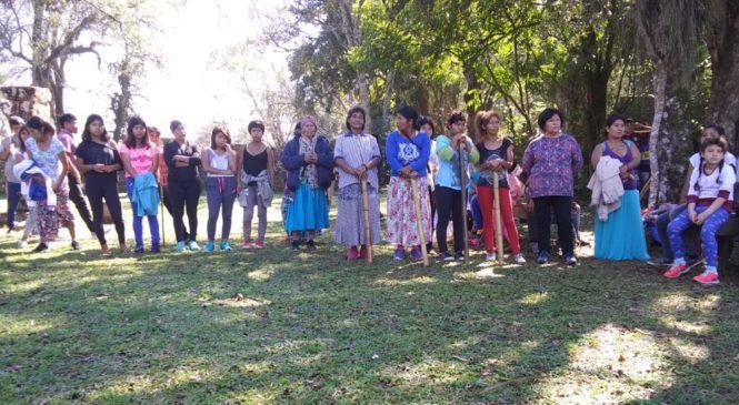 Comunidades mbya protestaron en las reducciones jesuíticas