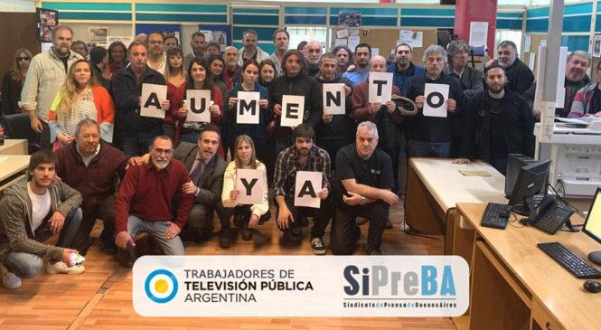 TV Pública: Plan de Lucha por aumento del salario