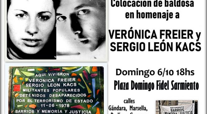 CABA: homenaje a Verónica Freier y Sergio León Kacs