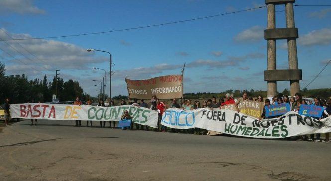 La protesta en defensa de los últimos humedales se traslada a Nordelta