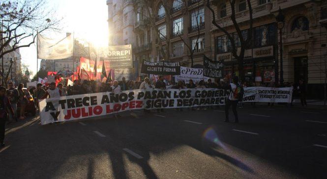Pasan los gobiernos y Julio López sigue desaparecido