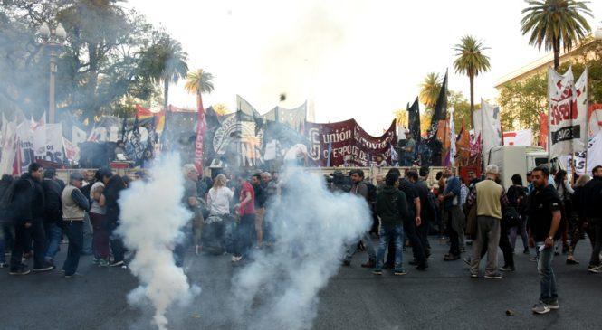 Marcha a Plaza de Mayo del sindicalismo combativo y el movimiento piquetero