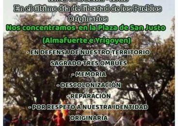 La Matanza: Concentración en el último día de libertad de los Pueblos Originarios