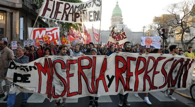Marcha al Consulado de Chile
