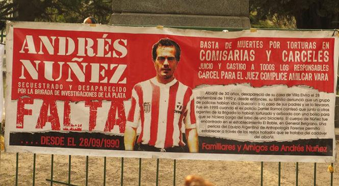 La Plata: Jornada a 29 años de la desaparición forzada de Andrés Nuñez