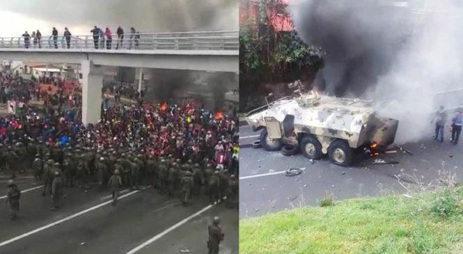 Ecuador: columnas indígenas arriban a Quito y Moreno se escapa a Guayaquil