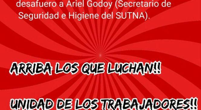 Tribunal de San Isidro rechazó el pedido de desafuero a Ariel Godoy del SUTNA