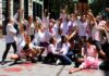 Intervención artística para denunciar la situación en Chile