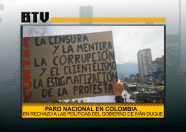 Jornada de paro nacional en Colombia en rechazo a las políticas del gobierno de Iván Duque