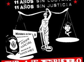 ¡A 11 años de la desaparición forzada de Luciano Arruga, seguimos exigiendo Justicia!
