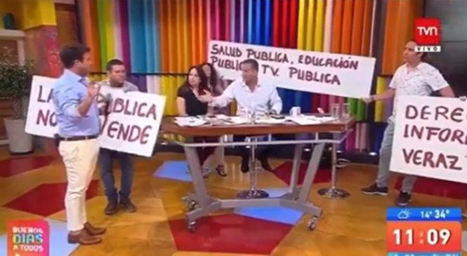 Protestas  en TVN – Chile por no cumplir rol público en pluralismo, diversidad y   representatividad
