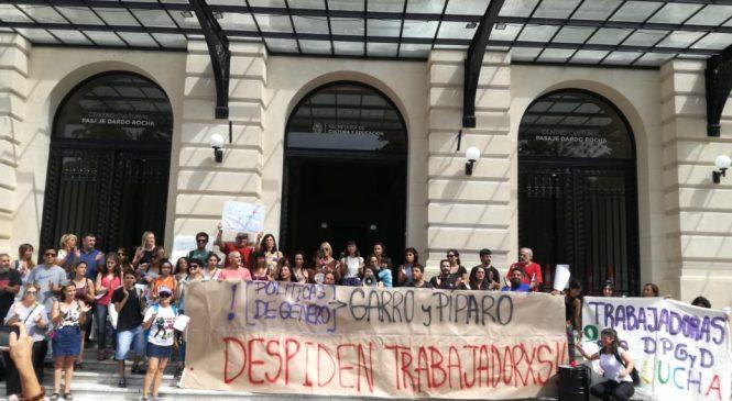 La Plata: protesta de trabajadoras de Género por la reincorporación