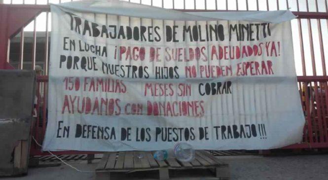 Córdoba: trabajadores de Molino Minetti frenan el desalojo