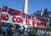 Gran movilización popular contra el FMI
