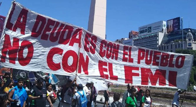 Gran movilización popular contra el FMI