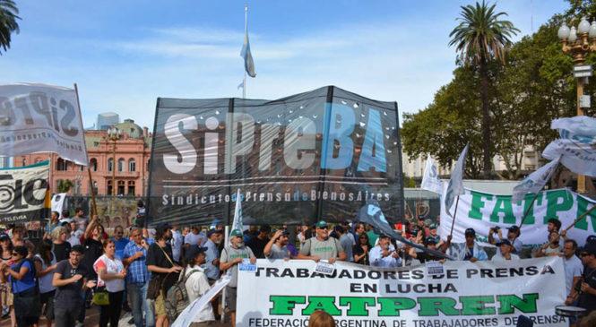 Sindicatos de prensa del país rechazan la injerencia del macrismo en la FATPREN