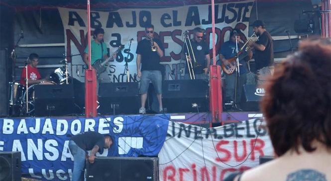 Festival solidario de trabajadores ferroviarios y de la papelera Ansabo