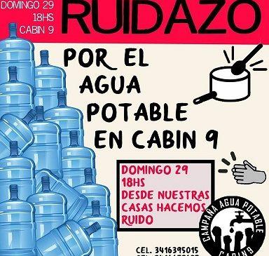 Rosario: Ruidazo por el agua potable en Cabin 9