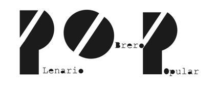Resultado de imagen para plenario obrero y popular + logo